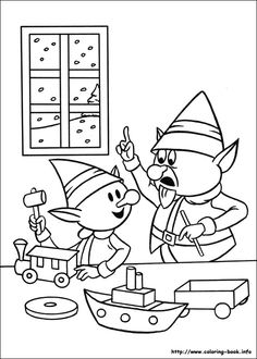 236x330 Rudolph And Hermey Celebrating Christmas Coloring Page Fun