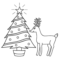 Rudolph The Red Nosed Reindeer Coloring Pages To Print