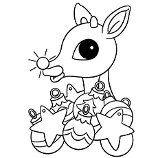 Rudolph The Red Nosed Reindeer Coloring Pages To Print at ...
