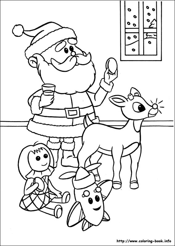 567x794 Coloring Pages Of Rudolph And Santa The Red Nosed Reindeer