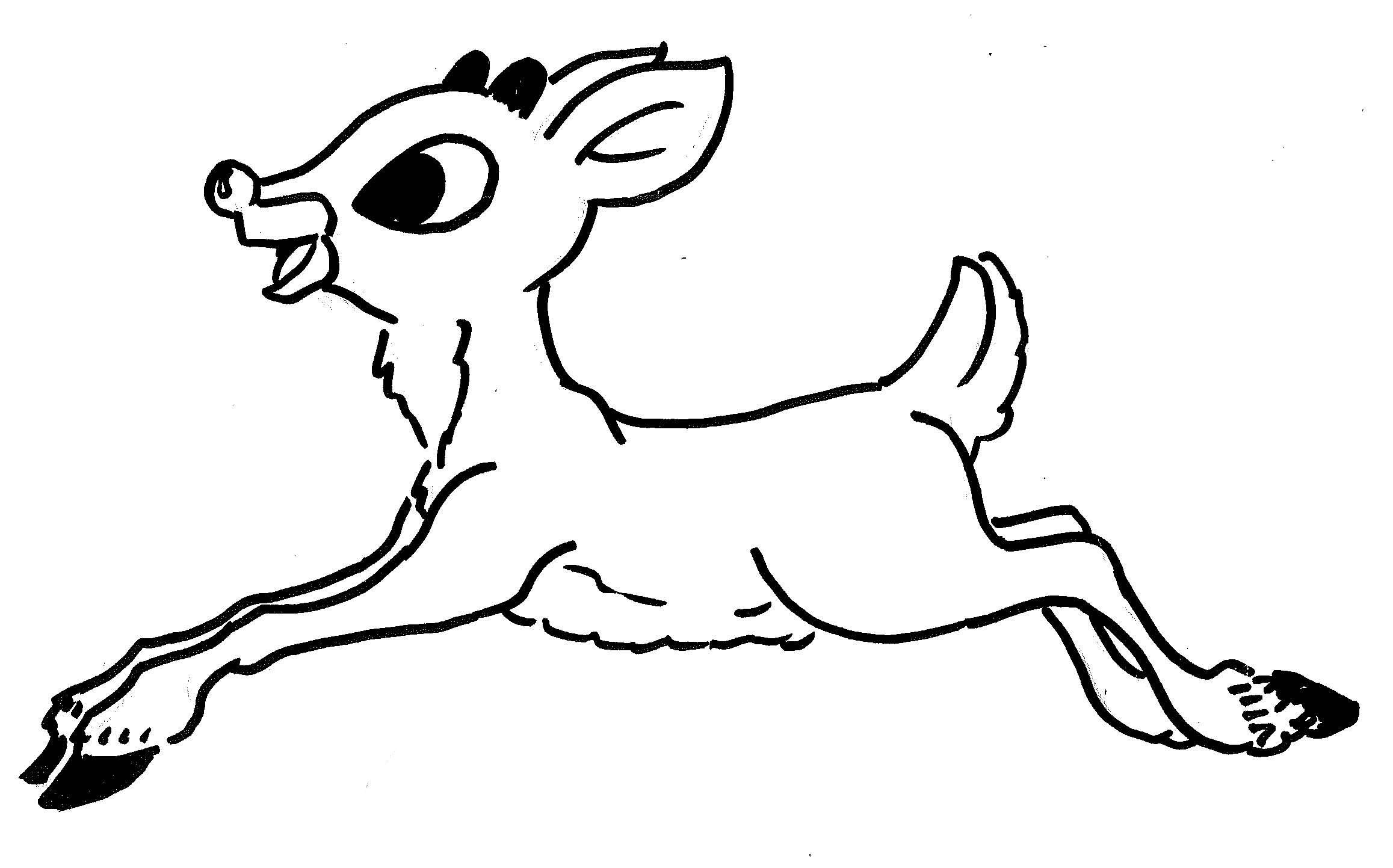 Rudolph The Red Nosed Reindeer Printable Coloring Pages At Getdrawings Free Download
