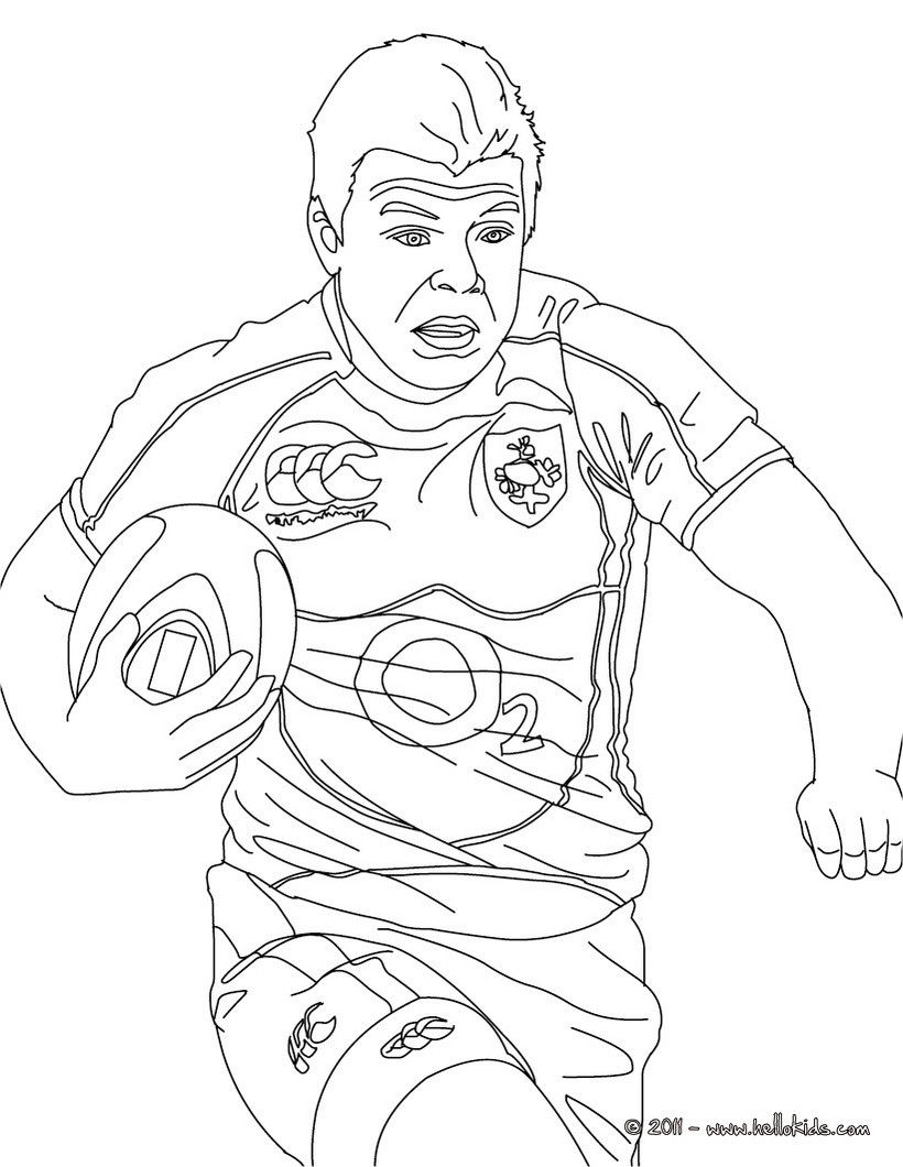 820x1060 Brian Driscoll Rugby Player Coloring Pages