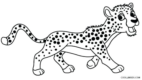 600x340 Real Cheetah Coloring Pages Unique For Your Year Color With Colo