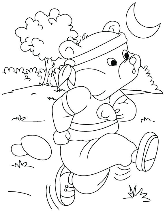 572x732 Fitness Coloring Pages Running Coloring Page Health And Fitness