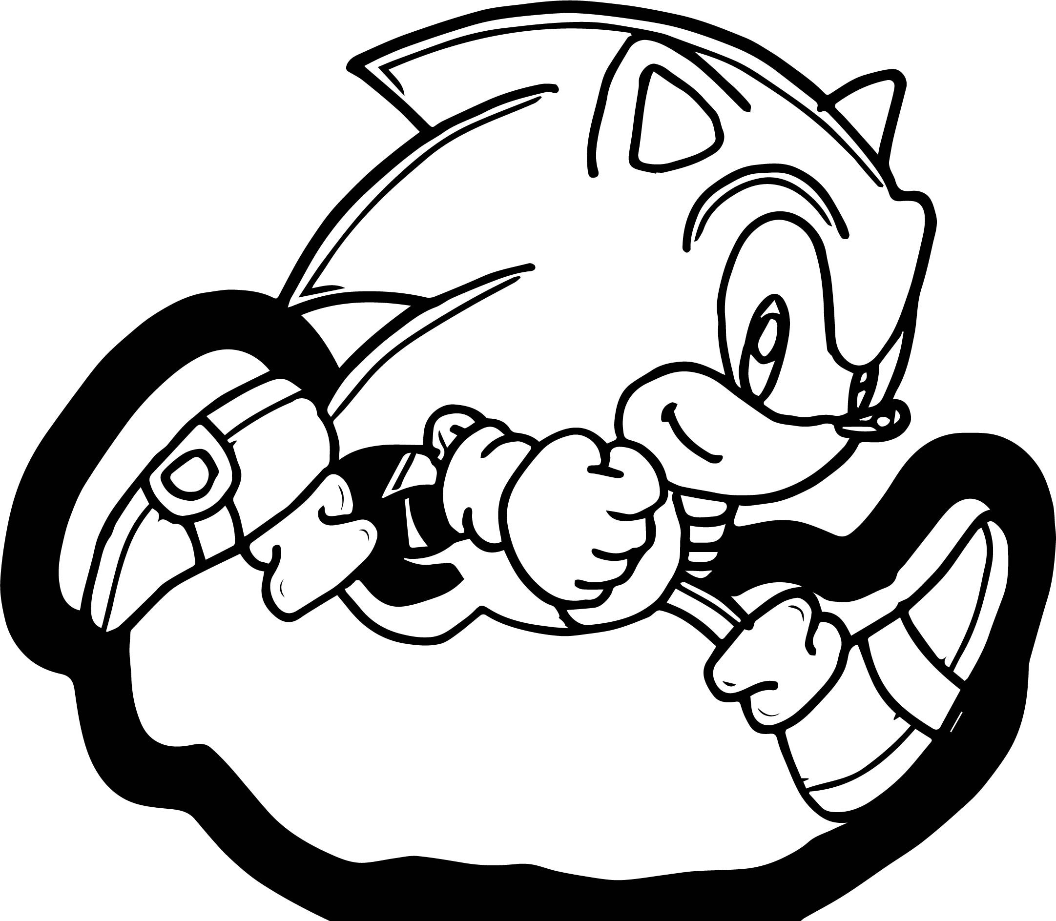 2163x1887 New Sonic Running Coloring Pages