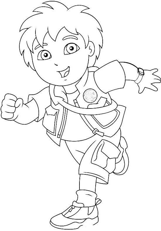 549x788 Pictures Go Diego Running Coloring Pages
