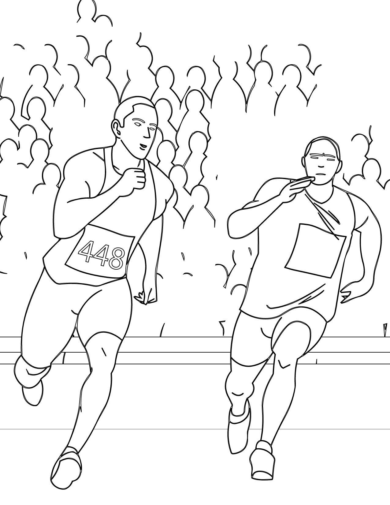 1275x1650 Runner's High Coloring Page
