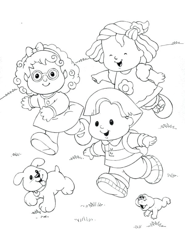 600x780 Running Coloring Pages Little People Running Down The Hill