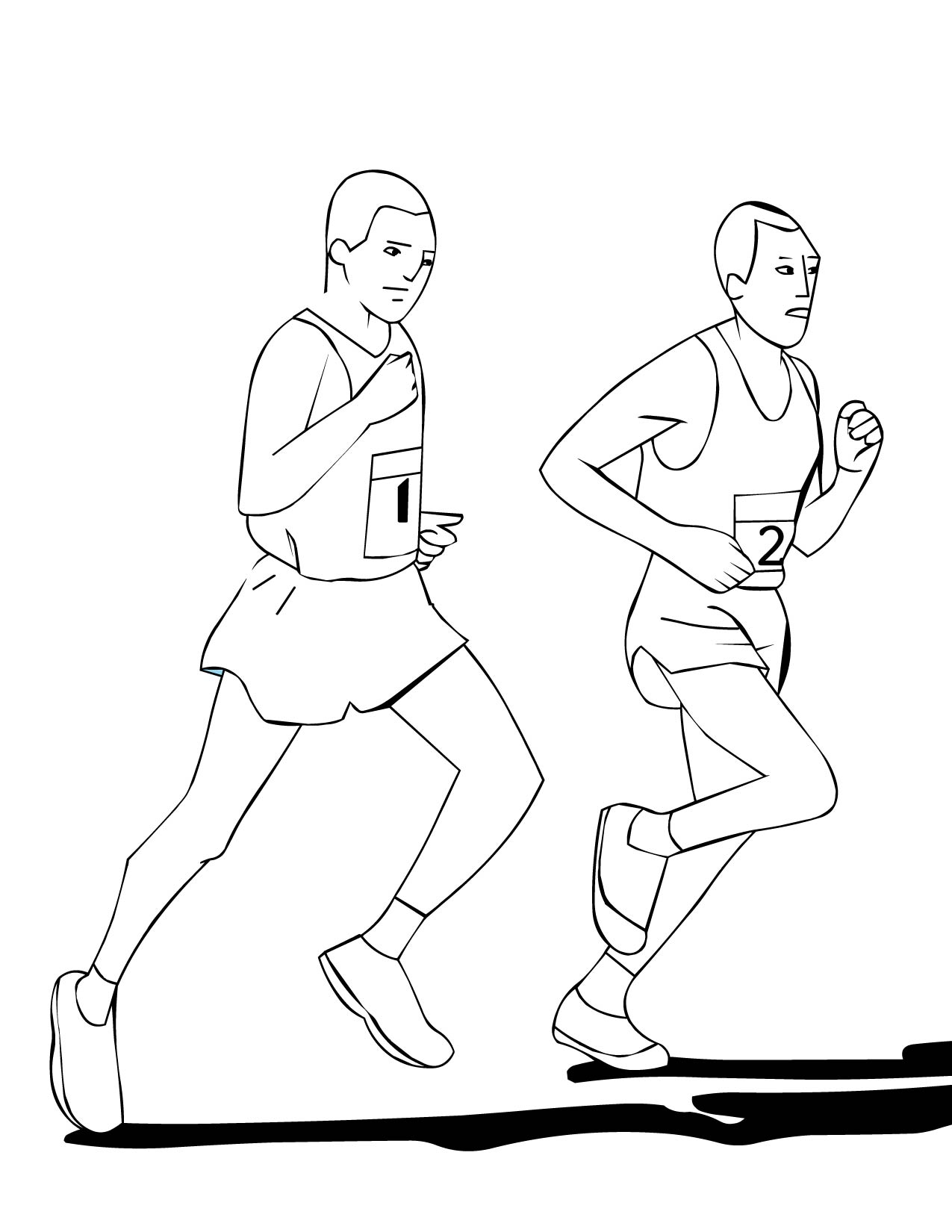 1275x1650 Running People Coloring Pages