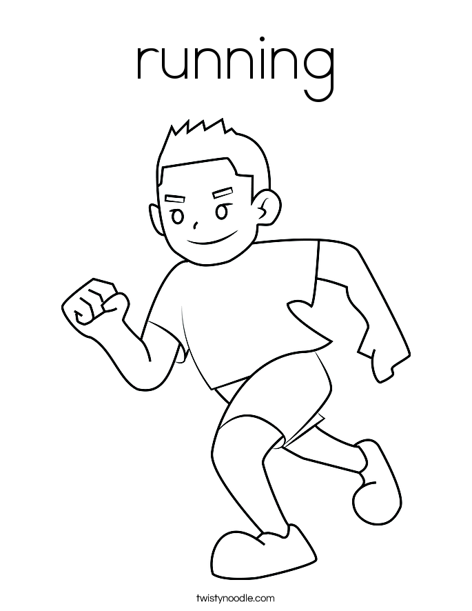 685x886 Running Coloring Page