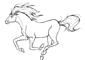 296x210 Horse Coloring Pages