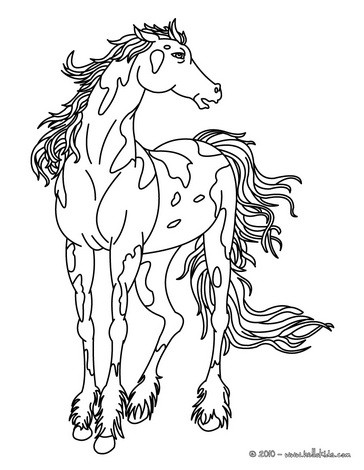 364x470 Running Horse Coloring Pages