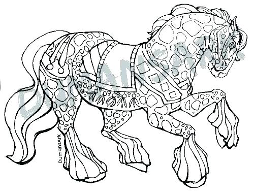 500x386 Horse Coloring Pages For Adults