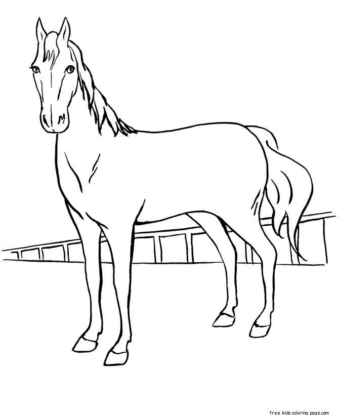 670x820 Running Horse Coloring Book Pictures