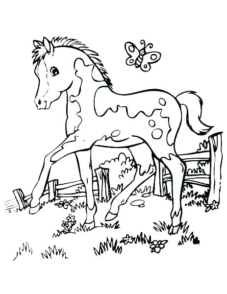 463x600 Coloring Pages Of Horses Running Horses Coloring Pages Free Free
