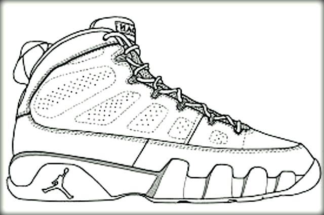 640x426 Coloring Pages Of Shoes Sneakers Coloring Pages Pictures