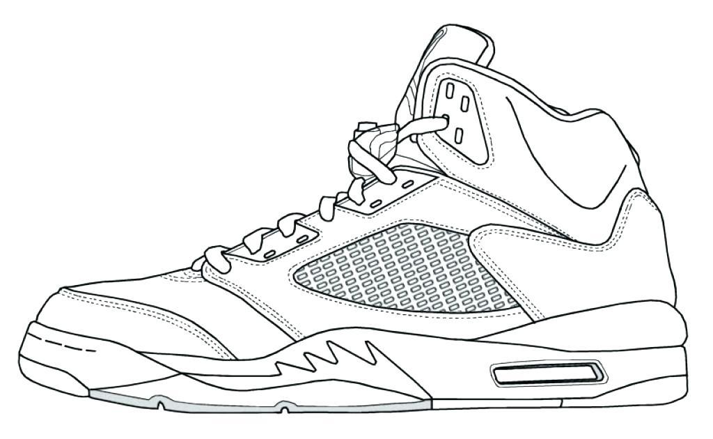 1024x630 Impressive Ideas Jordan Coloring Pages Basketball Shoe Coloring