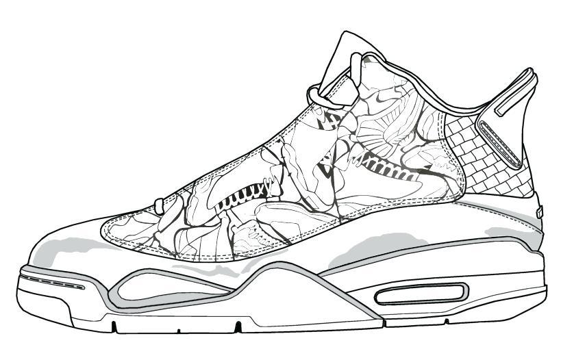 819x507 Jordan Shoes Coloring Pages Also Shoe Coloring Page Download