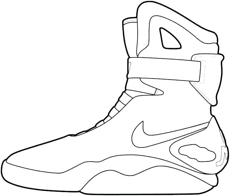 770x655 Air Jordan Coloring Pages Free Running Shoes Coloring Pages Enjoy