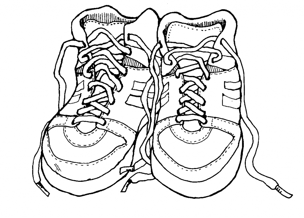 1024x735 Running Shoe Coloring Page
