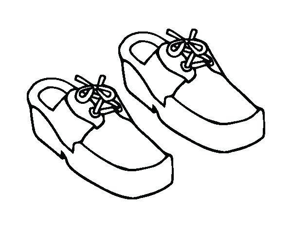600x470 Running Shoes Coloring Page Stock Illustration Illustration