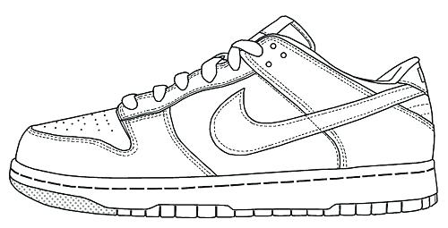 500x255 Running Shoes Coloring Pages Image Result For Running Shoe Line