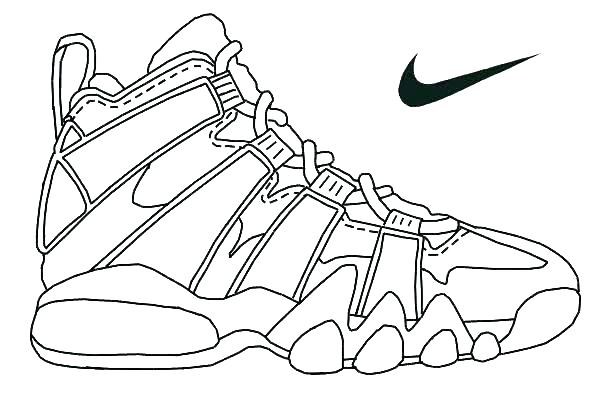 600x400 Coloring Pages Shoes