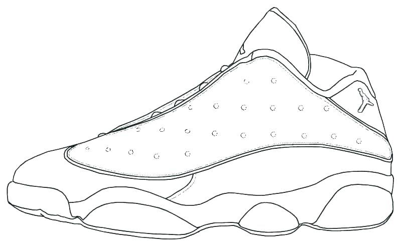 801x491 Running Shoe Coloring Page Dreamtemplates Club