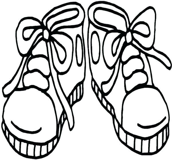 600x557 Shoe Coloring Sheet