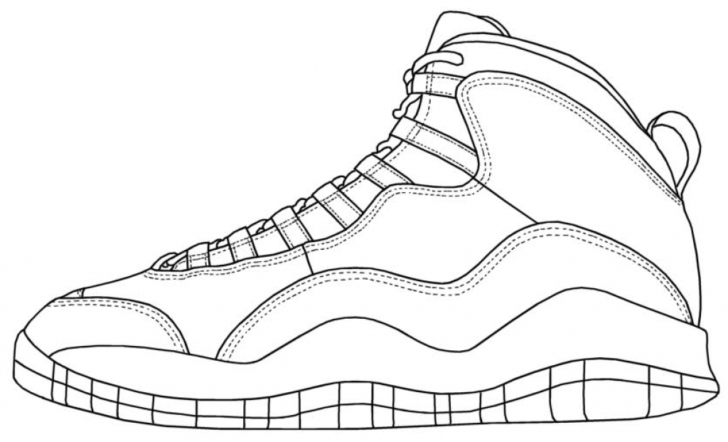 1024x621 Awesome Shoe Coloring Page Shoes Pages Print Murderthestout
