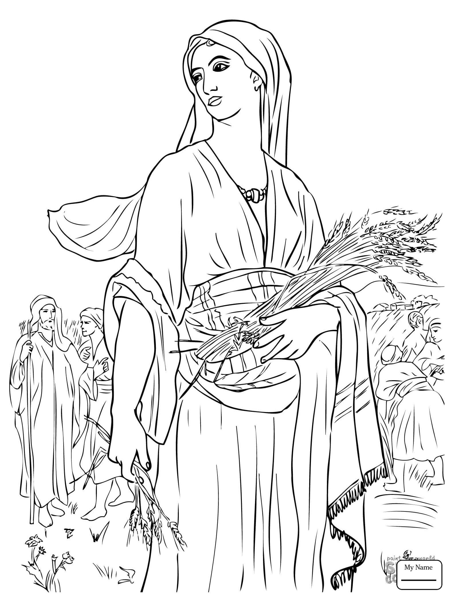 Ruth And Boaz Coloring Pages