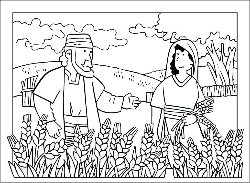 1023x747 Ruth And Boaz Coloring Pages And Coloring Page Coloring Pages Ruth