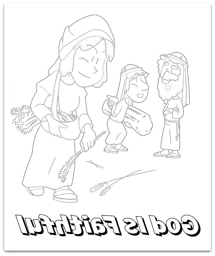 720x855 Ruth And Naomi Coloring Pages And Coloring Page Pages Ruth Naomi
