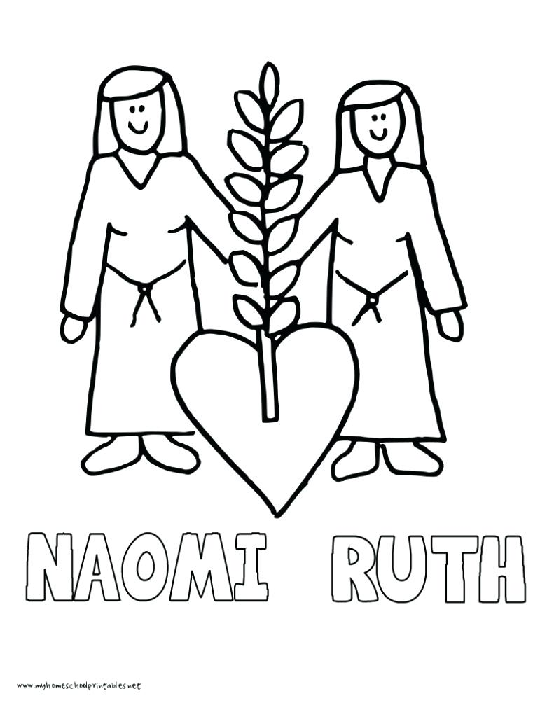 791x1024 Strong Ruth And Naomi Coloring Page Great Boaz Pages Obed