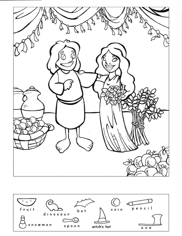 612x792 Surprising Design Ideas Ruth And Boaz Coloring Pages Obed