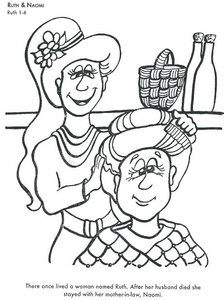 462x619 Ruth And Naomi Coloring Page And Coloring Pages Learn Bible