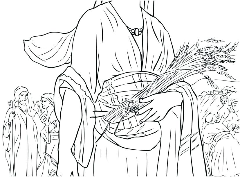 827x609 Ruth And Naomi Coloring Pages And Coloring Page Photo Ways To Use