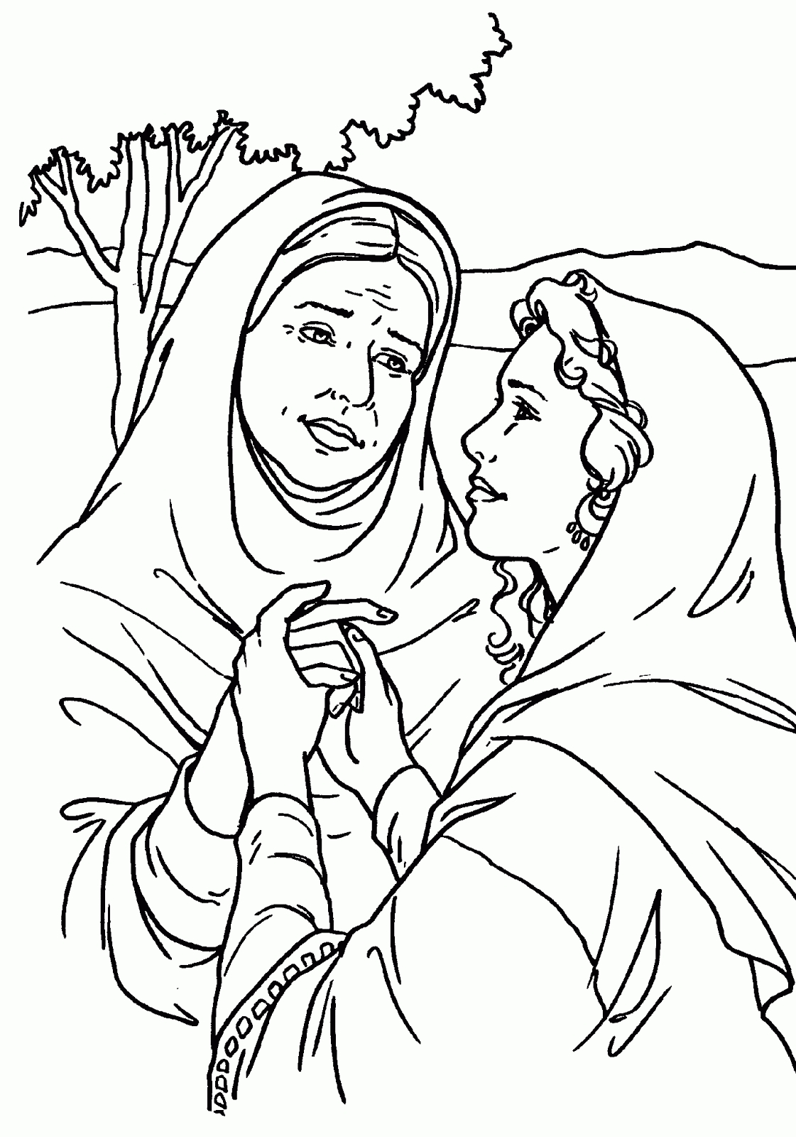 1121x1600 Beautiful Ruth And Naomi Coloring Pages Free