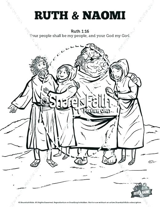 520x673 Ruth And Naomi Coloring Pages And Coloring Pages And Coloring Page