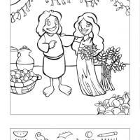 200x200 Ruth And Naomi Coloring Book Picture For The Ruth Preschool Lesson