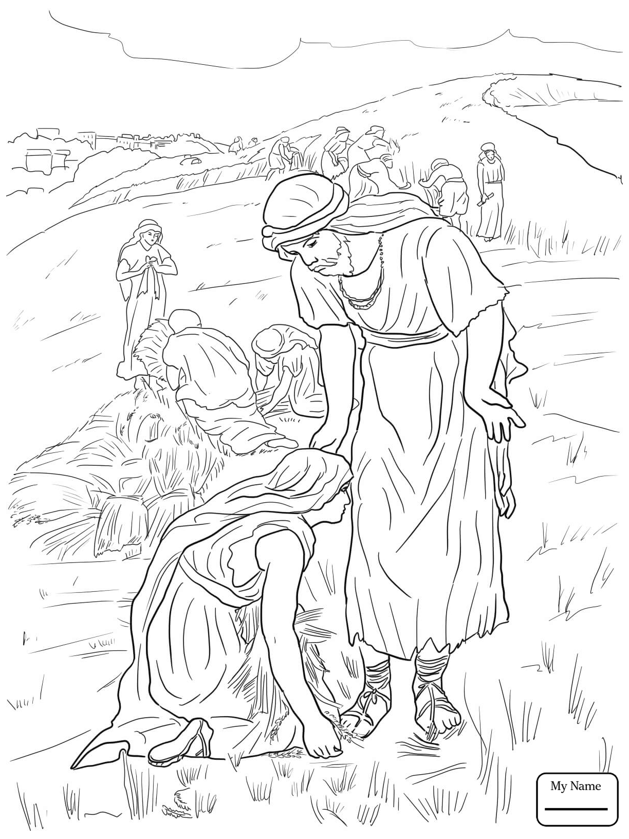 1224x1632 Weird Ruth And Naomi Coloring Page Bible Class Judges