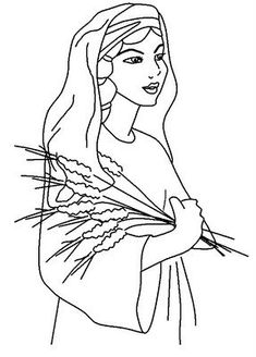 235x328 Coloring Pages For Children On The Story Of Ruth And Naomi