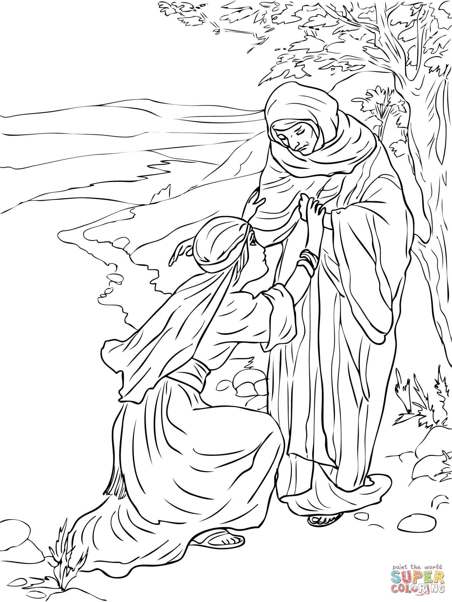 1536x2046 Revealing Ruth And Naomi Coloring Pages Page F