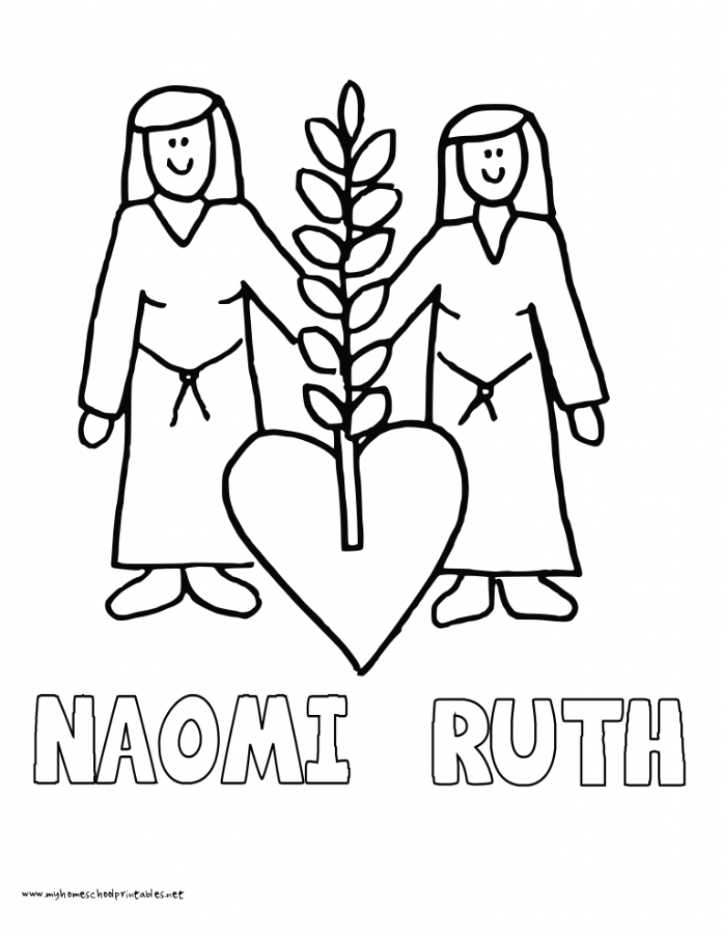 791x1024 Revisited Ruth And Naomi Coloring Pages Miracl