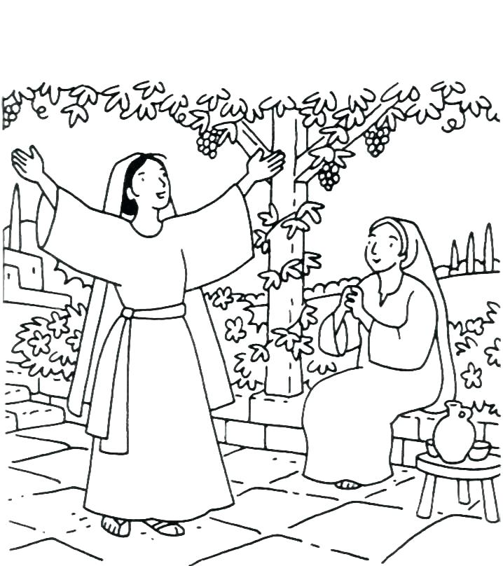 718x808 Ruth And Naomi Coloring Page And Coloring Pages And Coloring Pages
