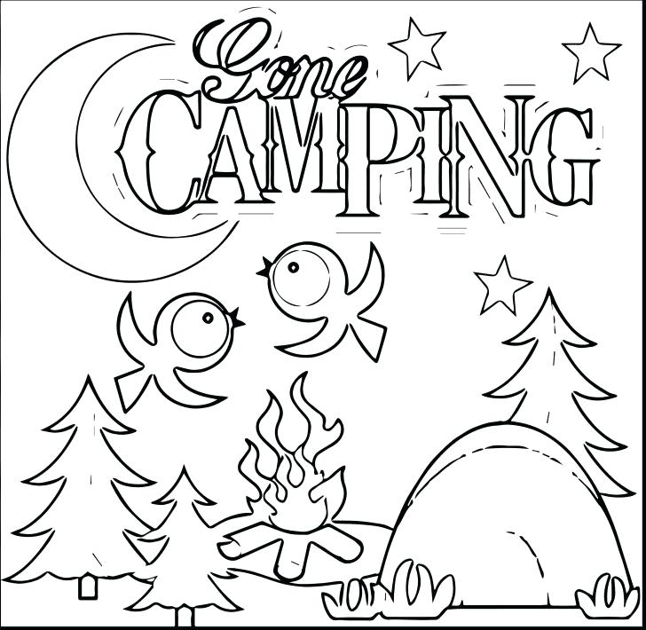 728x710 Camping Coloring Pages Camping Coloring Pages For Kids Rv Camping