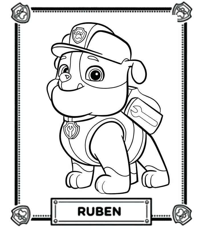 Ryder Paw Patrol Coloring Pages At Getdrawings Free Download