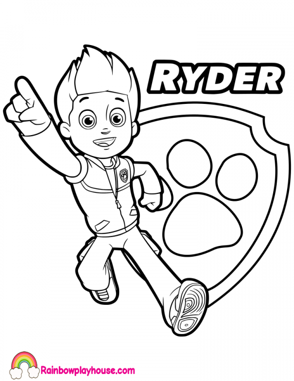 Ryder Paw Patrol Coloring Pages at GetDrawings.com | Free ...
