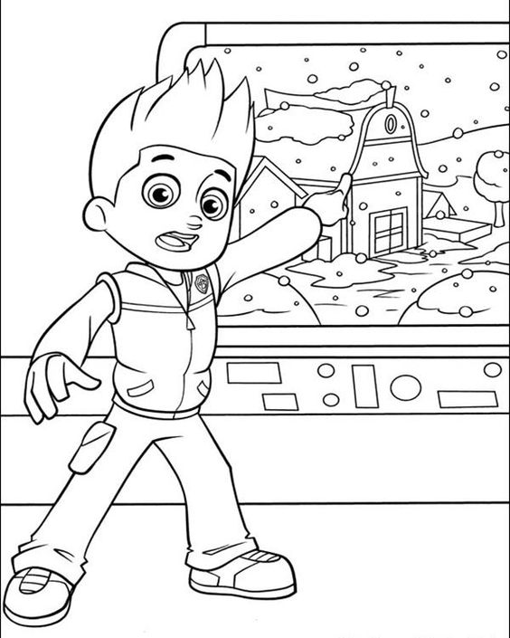 Ryder Paw Patrol Coloring Pages at GetDrawings | Free download