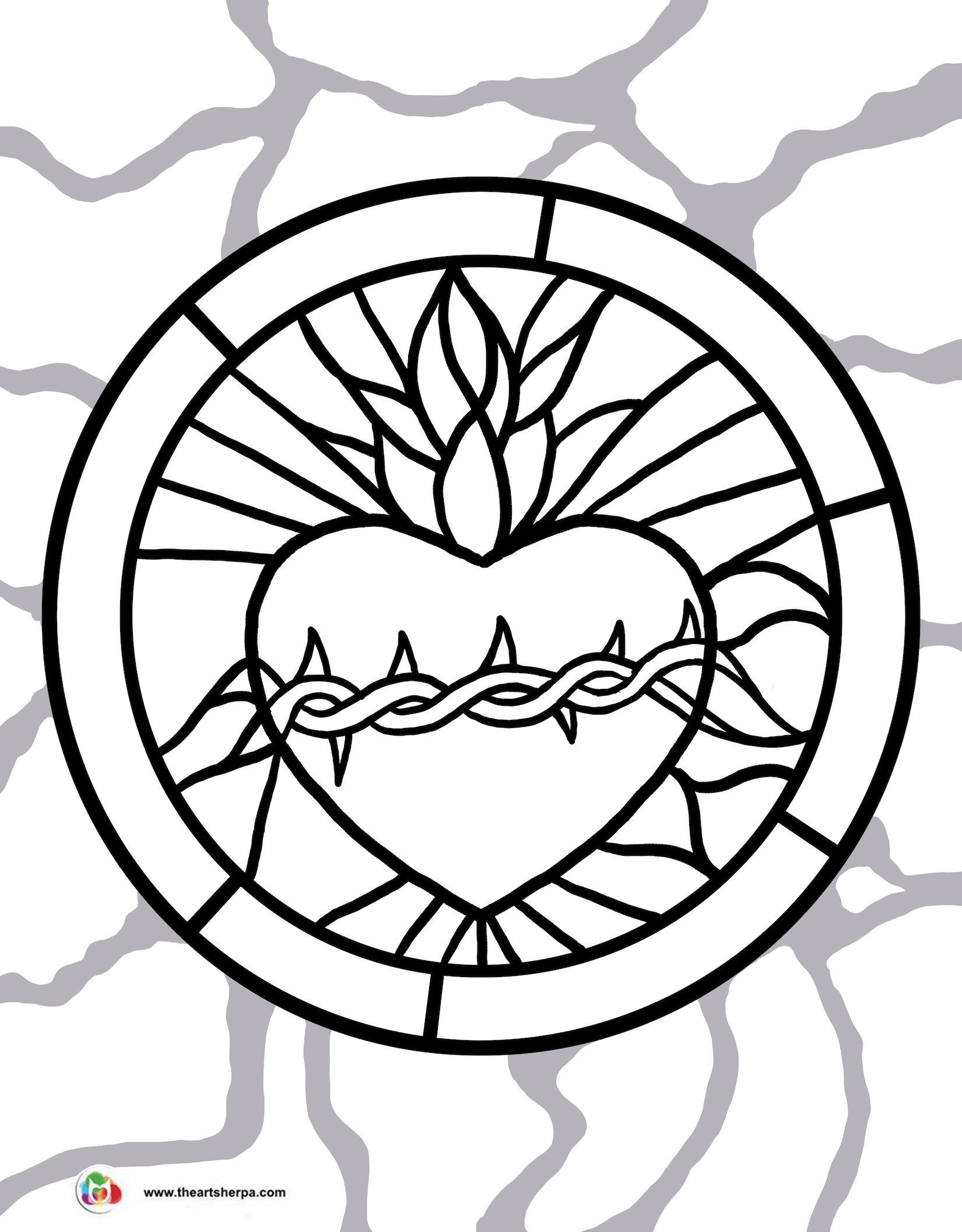1650x2112 Look To Him And Be Radiant Sacred Heart Of Jesus Coloring Pages